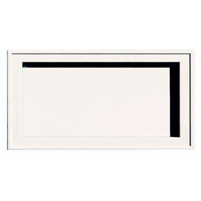 7.5 in. x 14.25 in. #123-White Recessed Jumbo Mounting Block
