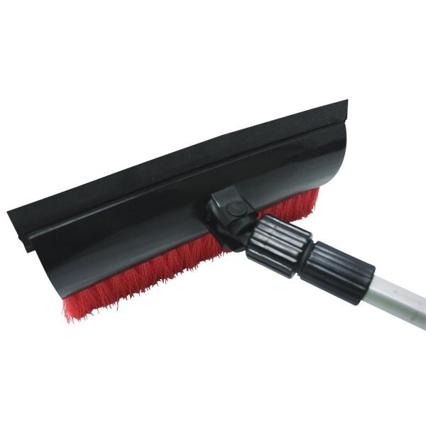 Orange MOVTOTOP Telescoping Snow Brush and Ice Scraper with Foam Grip 39 Extendable Snow Scraper with Brush 270/°Pivoting Head Snow Removal Brush for Car Truck SUV Windshield