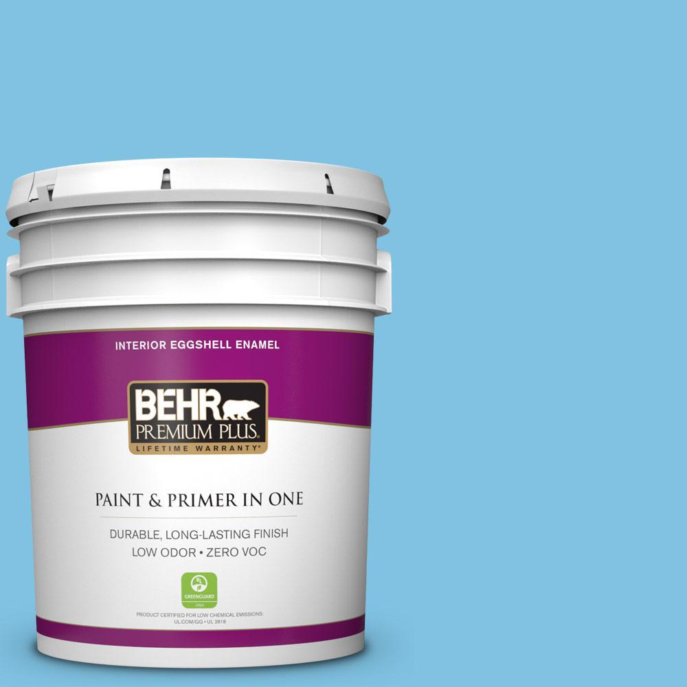BEHR Premium Plus 5-gal. #540B-4 Horizon Haze Zero VOC Eggshell Enamel Interior Paint
