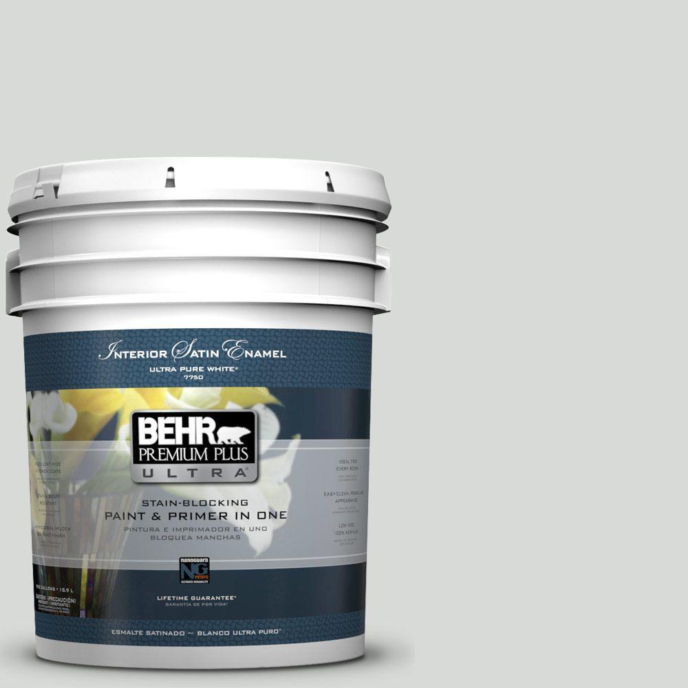 BEHR Premium Plus Ultra 5-gal. #N460-1 Evening White Satin Enamel Interior Paint