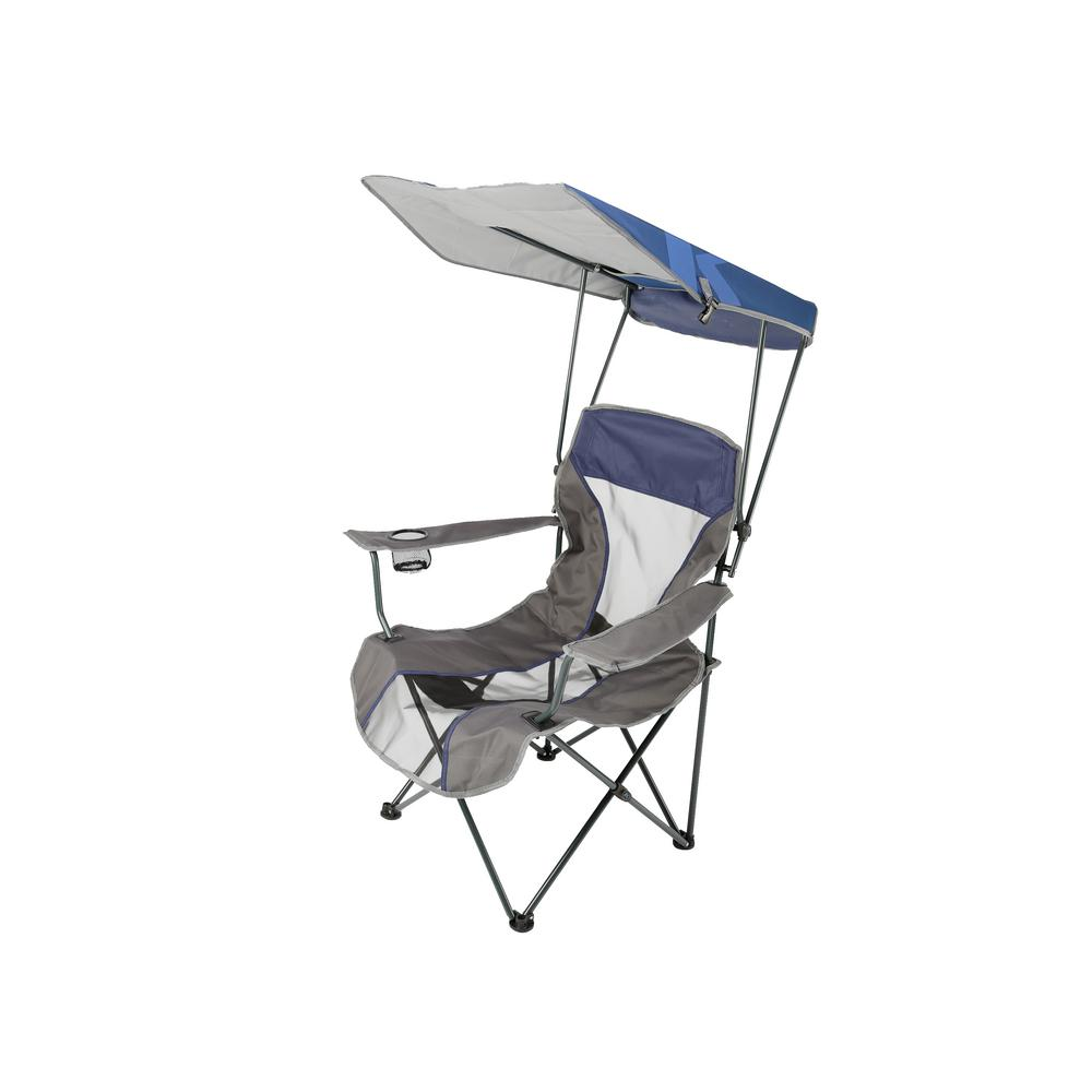 SwimWays Kelsyus Original Outdoor Camping Folding Lawn Chair with Canopy