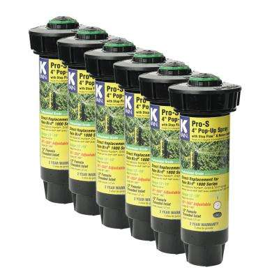 Pro-S 4 in. Spray 15 ft. Adjustable Rotary Nozzle with Stop Flow (6-Pack)