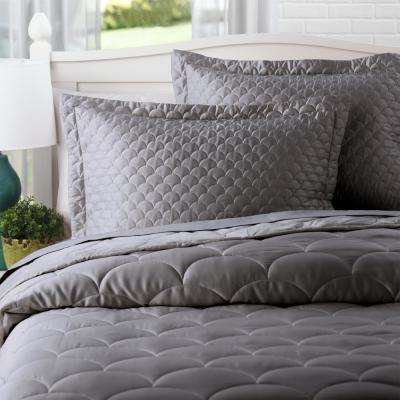 Charcoal Standard Quilted Pillow Sham