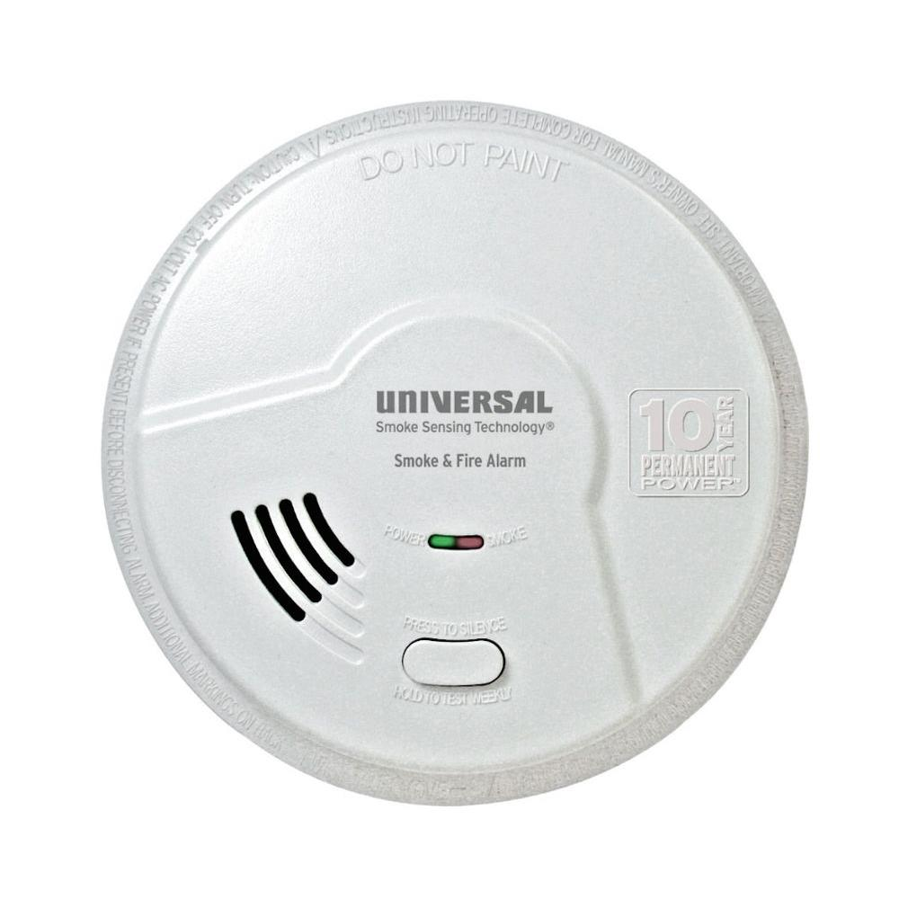 10-Year Sealed Battery-Operated Combination Smoke and Fire Smart Alarm