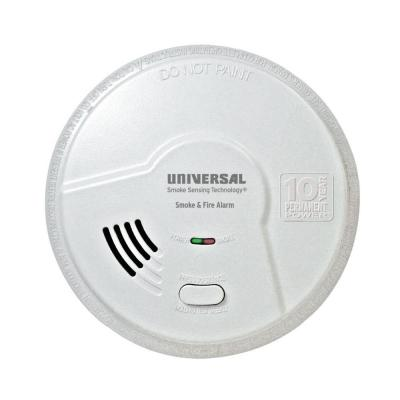 10 Year Sealed, Battery Operated, Dual Sensing 2-In-1 Kitchen Smoke and Fire Detector, Microprocessor Intelligence