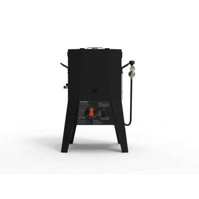Propane Fryer with Thermostat Control in Black