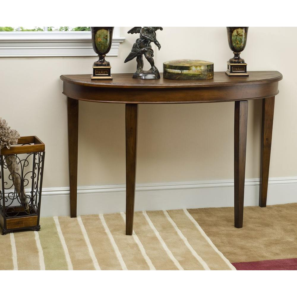 Safavieh jenna brown console table amh4013a the home depot geotapseo Choice Image