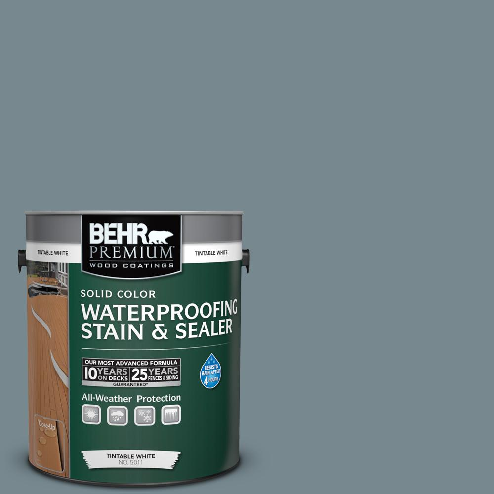 1 gal. #N470-5 Norwegian Blue Solid Color Waterproofing Exterior Wood Stain