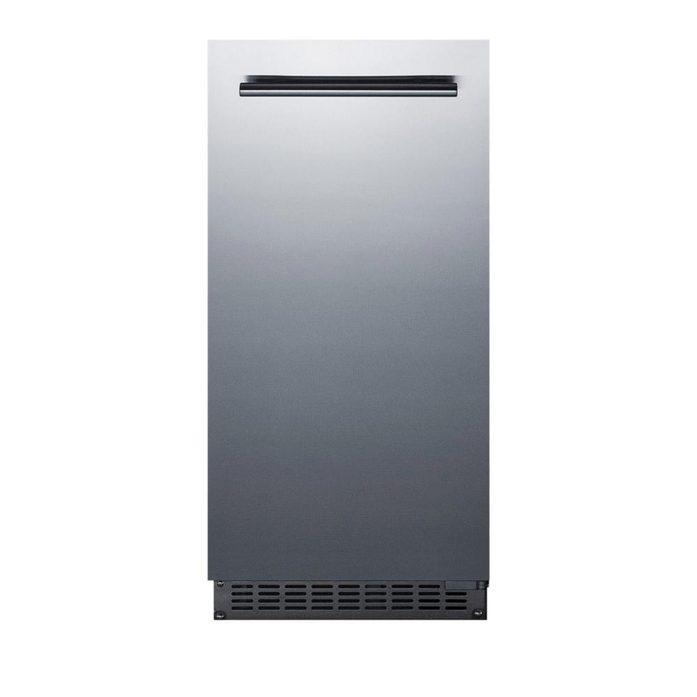 15 in. 62 lb. Built-In Ice Maker in Stainless Steel