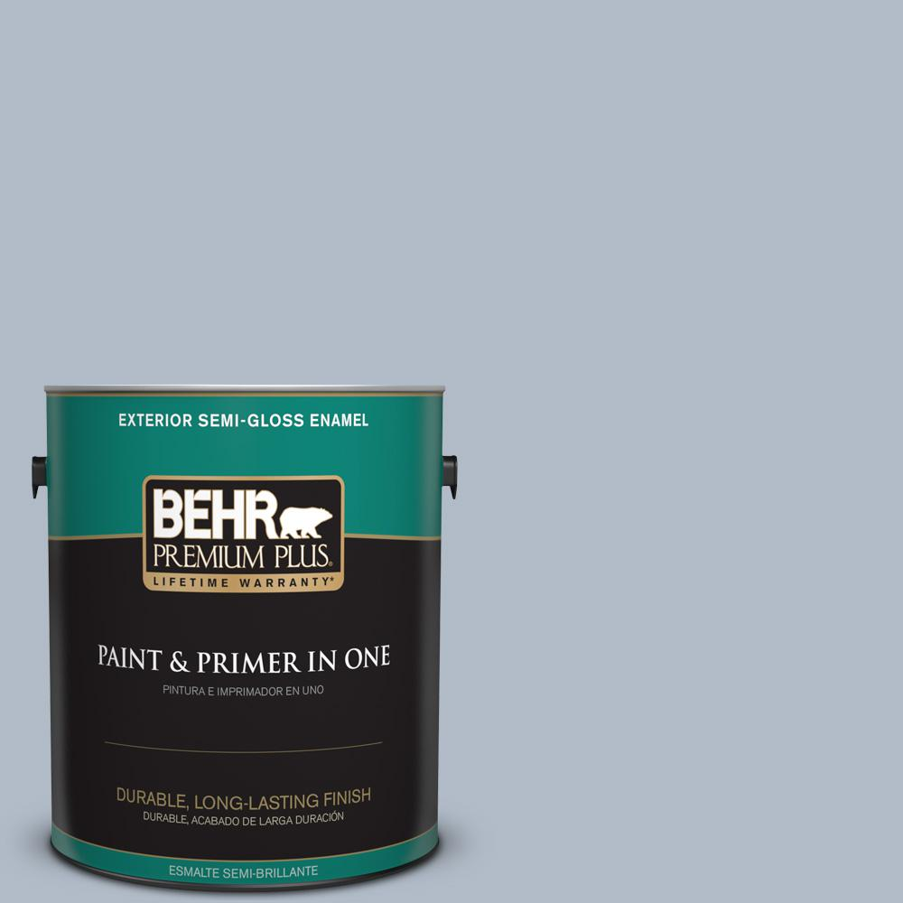 1 gal. #PPU14-12 Hazy Skies Semi-Gloss Enamel Exterior Paint
