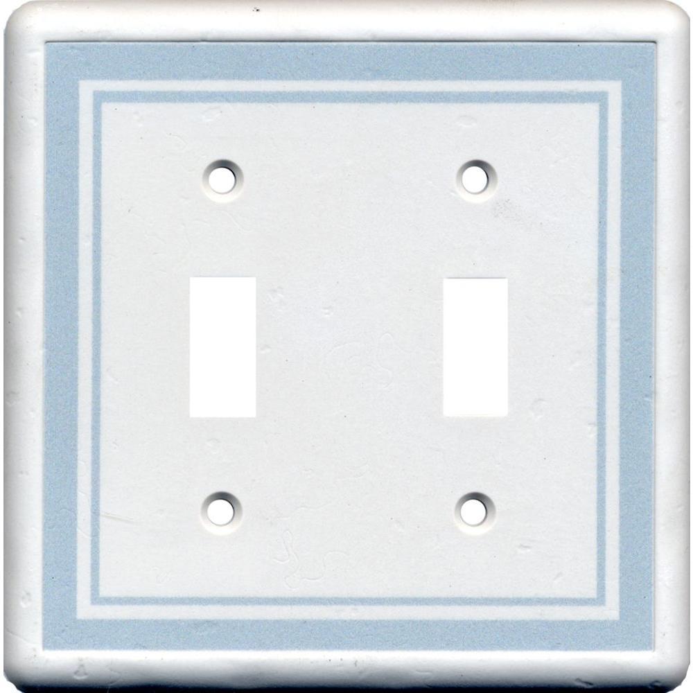 Hampton Bay Color Decor 2 Gang 2 Toggle Wall Plate - Cool Blue
