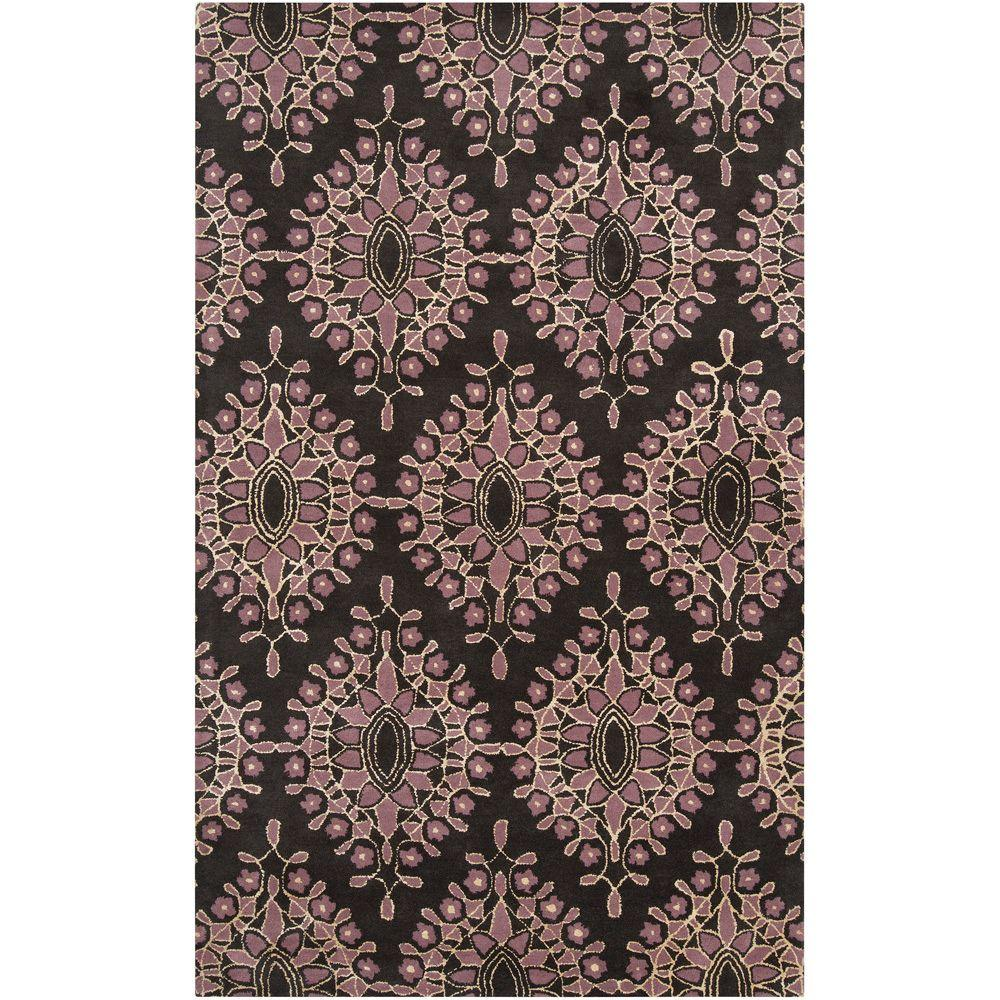 Bob Mackie Charcoal 9 ft. x 13 ft. Contemporary Area Rug
