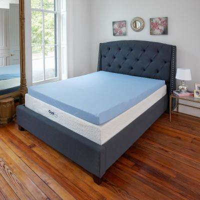 Classic Cool Cloud 3 in. Queen Gel Memory Foam Mattress Topper with Free Cover