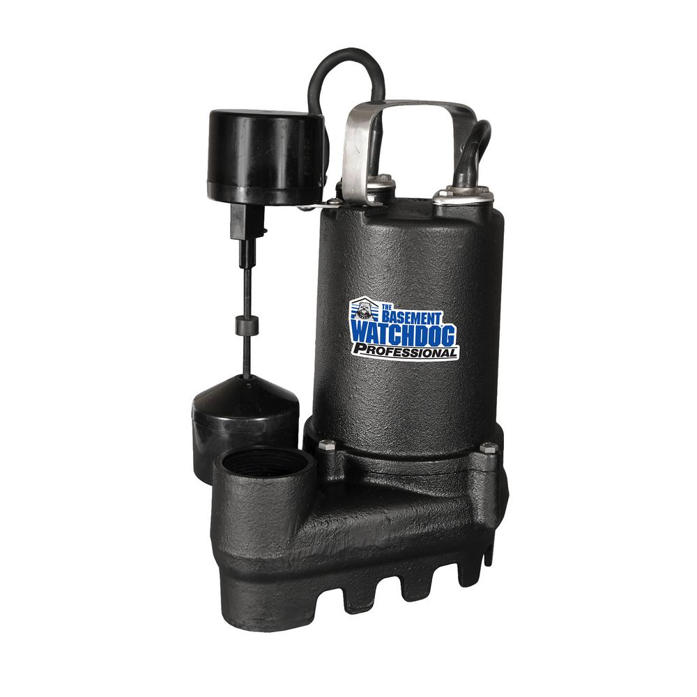 1/3 HP Cast Iron Submersible Sump Pump with Vertical Switch