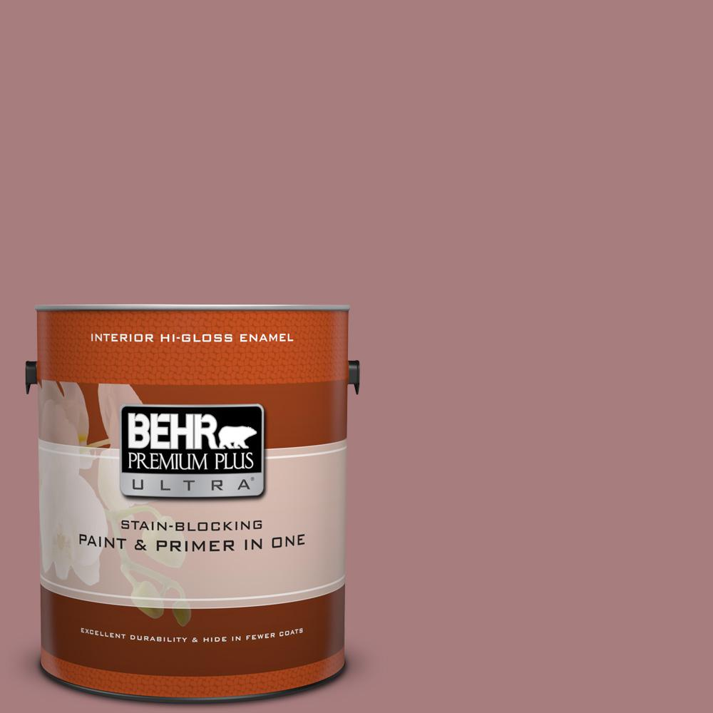 1 gal. #140F-4 Bedford Brown Hi-Gloss Enamel Interior Paint