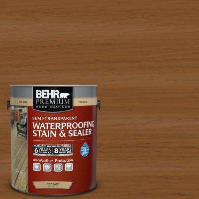 1 gal. #ST-115 Antique Brass Semi-Transparent Waterproofing Exterior Wood Stain and Sealer