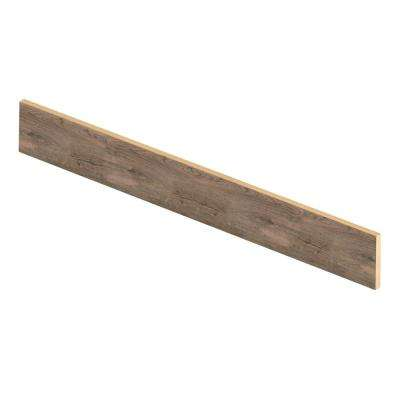 Vintage Pewter Oak 47 in. Length x 1/2 in. Deep x 7-3/8 in. Height Laminate Riser to be Used with Cap A Tread
