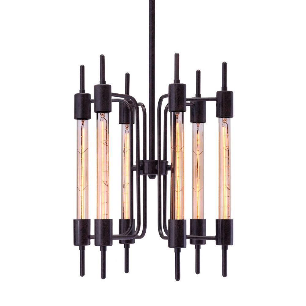 Gisborne 6-Light Rust Ceiling Lamp