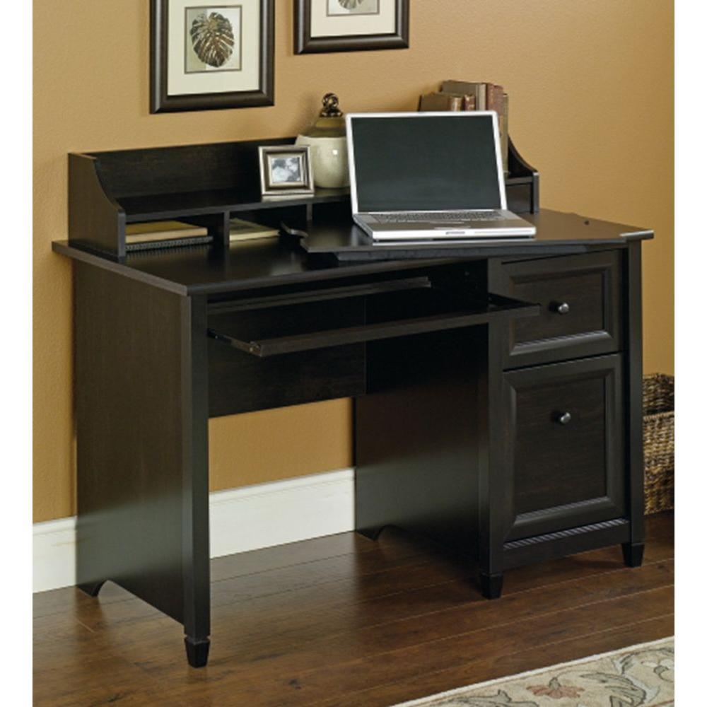 SAUDER Edge Water Estate Black Desk With Storage-409043