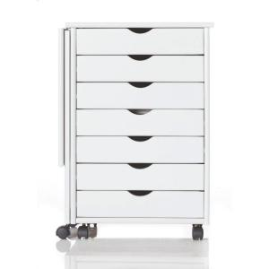 Home Decorators Collection Stanton 21 inch W Single Gate Leg Storage Cart in White by Home Decorators Collection