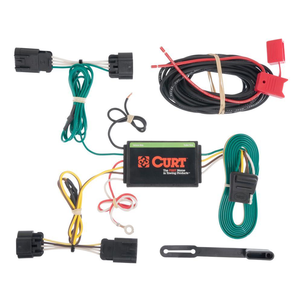 Curt custom wiring harness (4 way flat output) 56179 the home depot wiring harness insulators custom wiring harness (4 way flat output)