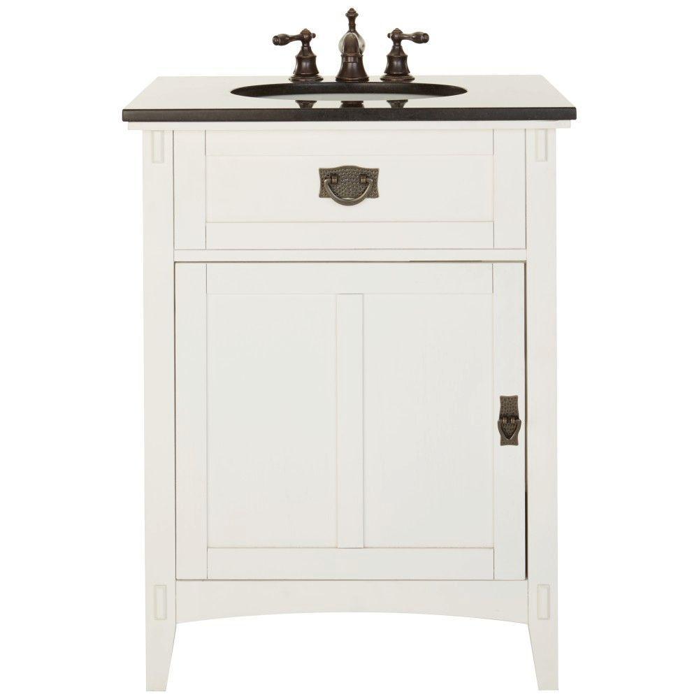 Home Decorators Collection Artisan 26 in W Vanity in Dark Oak