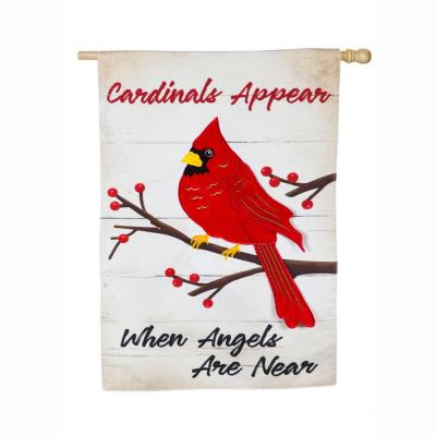 28 in. x 44 in. When Angels Are Near House Linen Flag