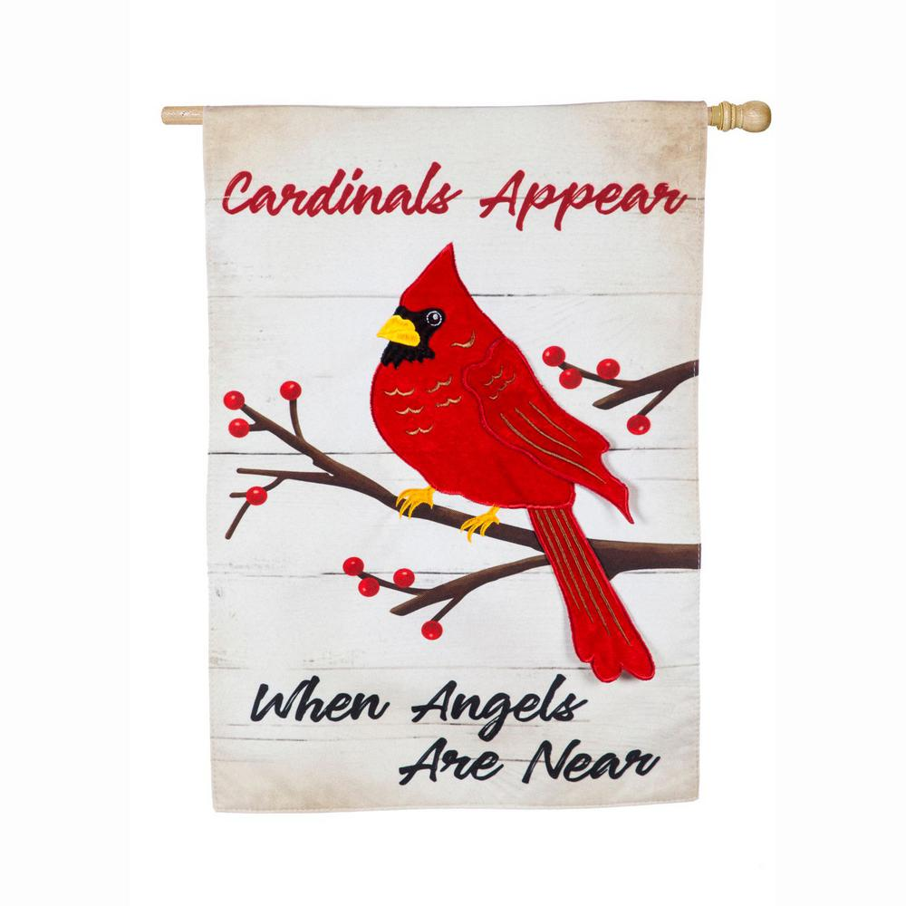 Evergreen 28 in. x 44 in. When Angels Are Near House Linen Flag-13L8772 - The Home Depot