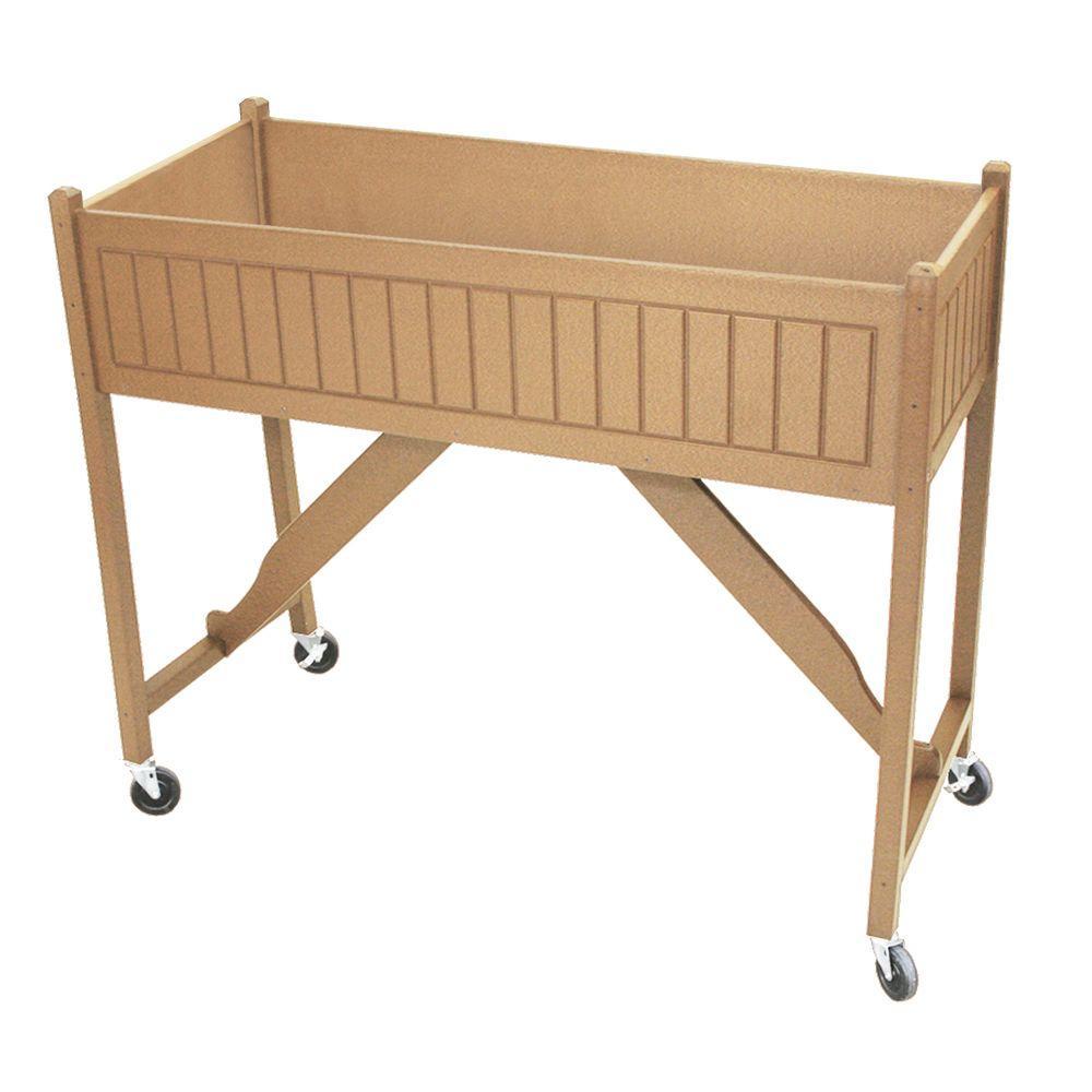 50 in. x 20 in. Cedar Recycled Plastic Commercial Grade Raised Garden Bed