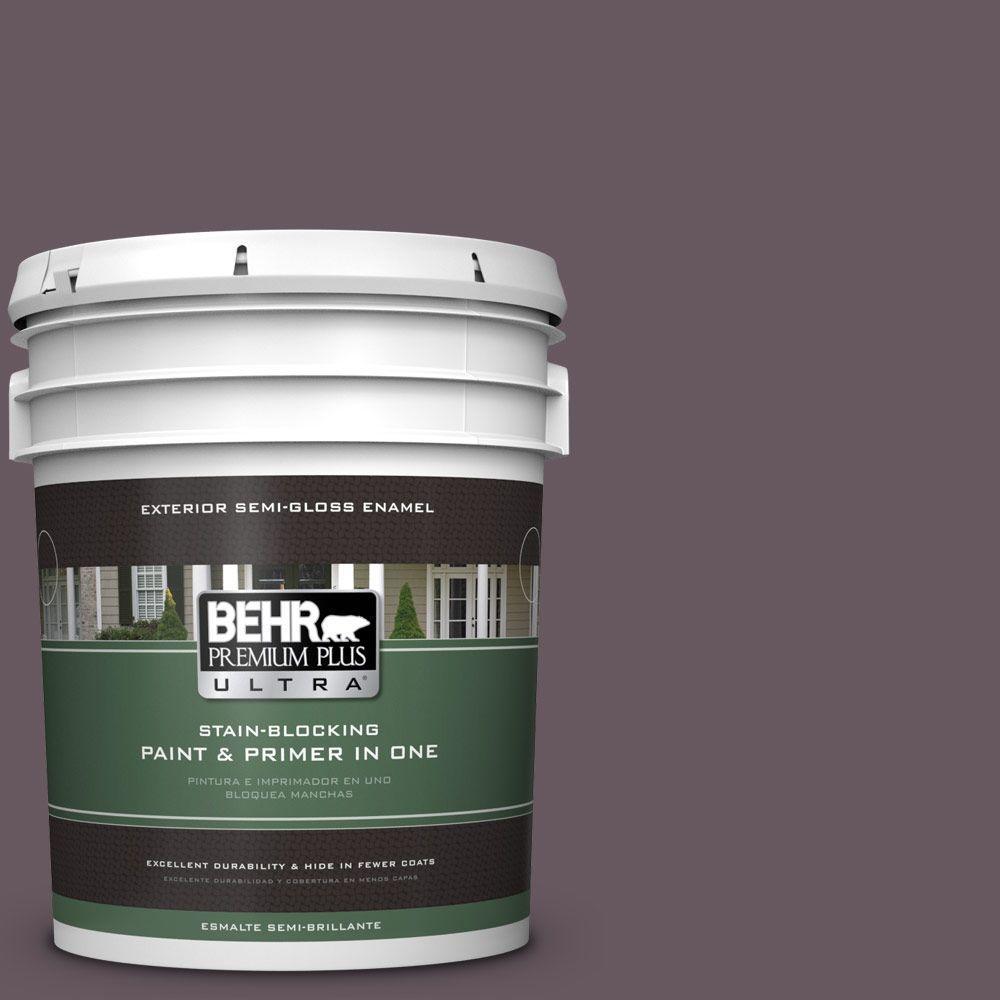 BEHR Premium Plus Ultra 5-gal. #N100-6 Urban Legend Semi-Gloss Enamel Exterior Paint