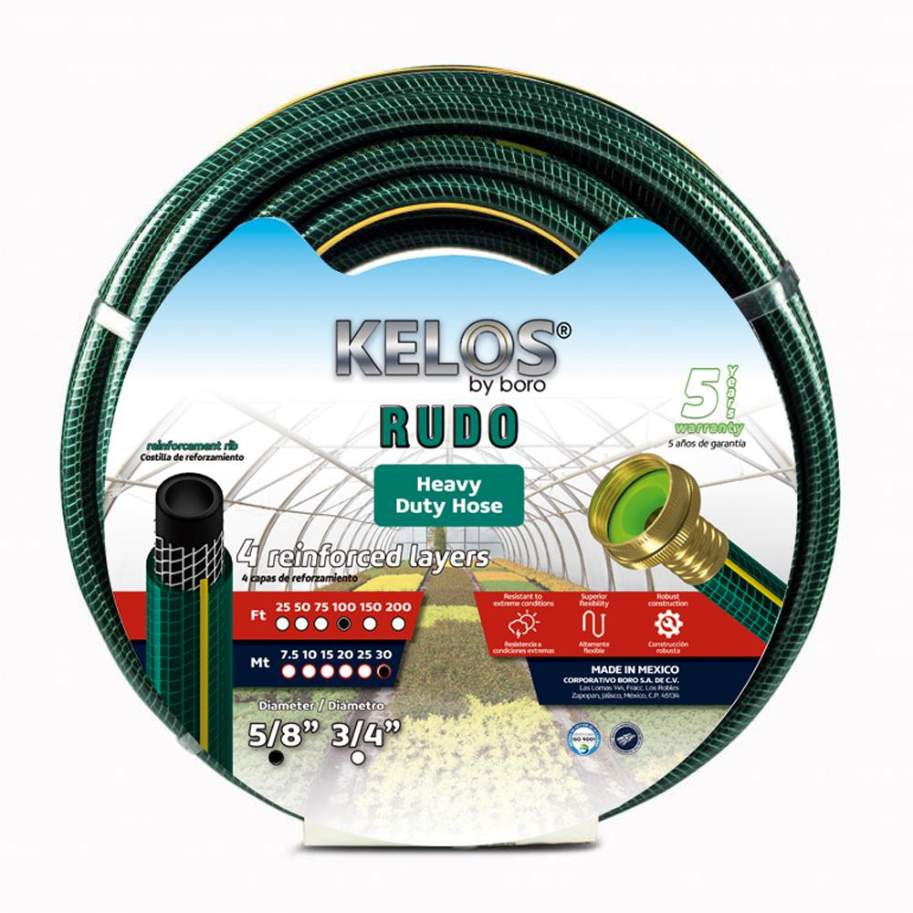 Kelos Rudo 5/8 in. Dia x 100 ft. Heavy-Duty Garden Hose