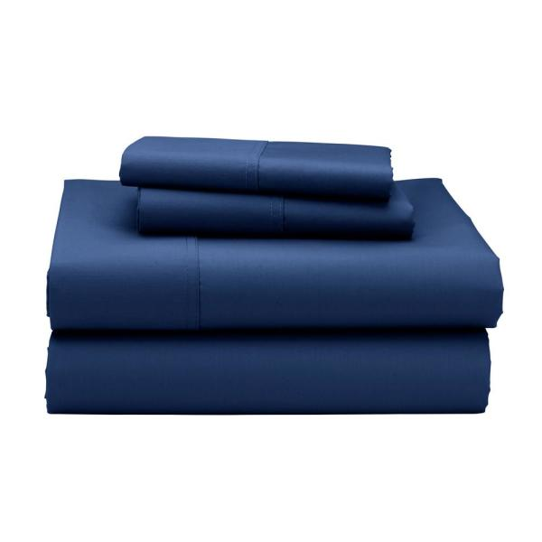 The Company Store 3-Piece Blue Sapphire 300 Thread Count Sateen Twin