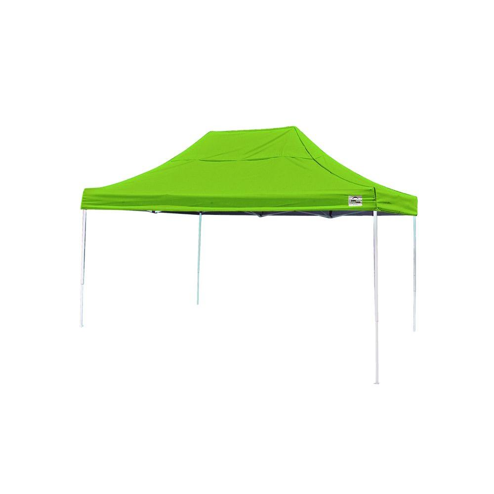 ShelterLogic 10 ft. x 15 ft. Pop-Up Canopy in Spring Green Cover with Black Bag