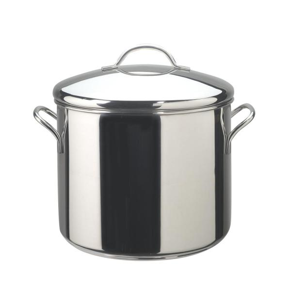 Farberware Classic Series 12 Qt. Stainless Steel Stock Pot with Heat