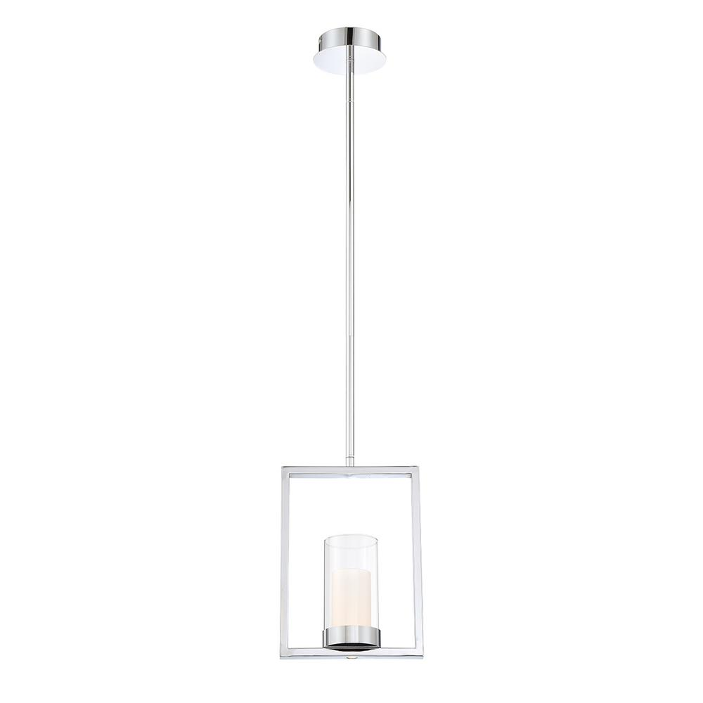 Home Decorators Collection 7-Watt Satin Nickel Integrated LED Pendant