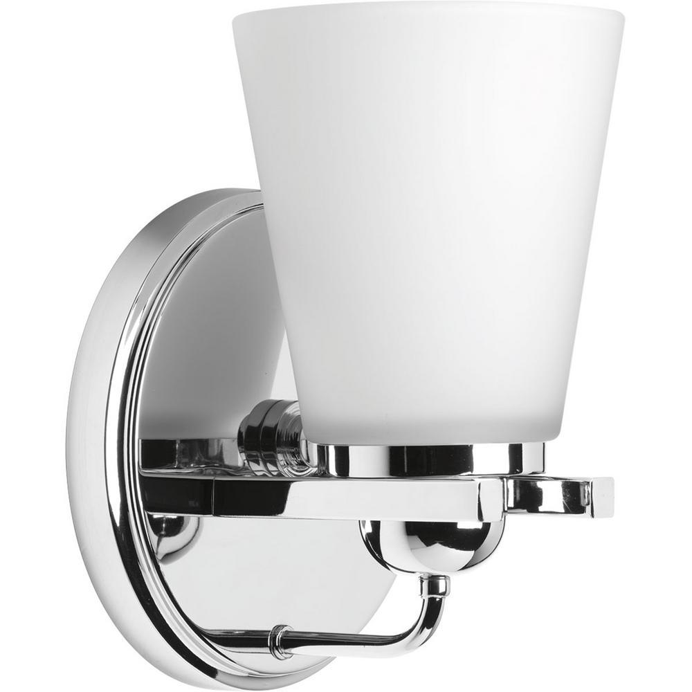 Progress Lighting Flight Collection Light Polished Chrome Bath - Polished chrome bathroom sconces
