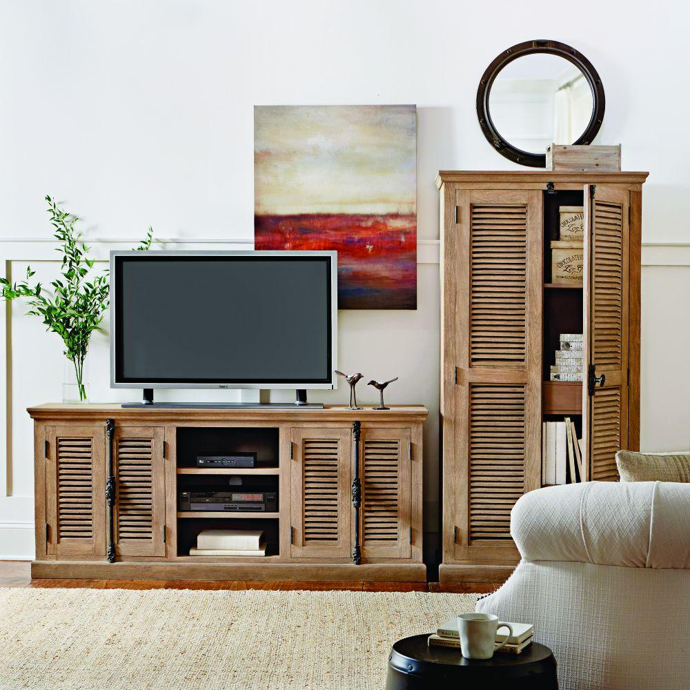home tv stand furniture designs. Highland Sandblasted Natural Storage Entertainment Center Wood  TV Stands Living Room Furniture The Home Depot