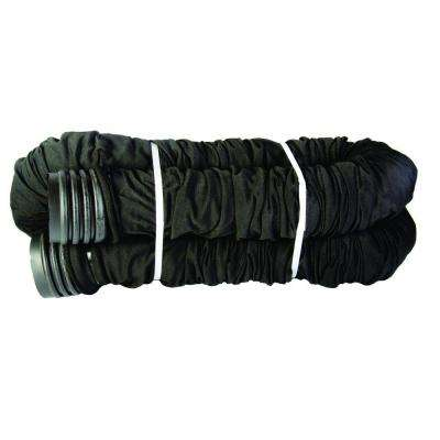 4 in. x 25 ft. Polypropylene Flexible Perforated Pipe with Sock