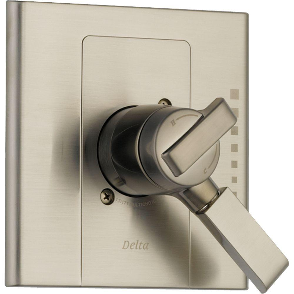 Delta Arzo Monitor 17 Series 1-Handle Volume and Temperature Control Valve Trim Kit in Stainless (Valve Not Included)