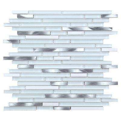CHENX 11.81 in. x 13.38 in. x 8 mm Aluminum Metal Glass Stone Backsplash Multi Color (12.01 sq. ft. / case)
