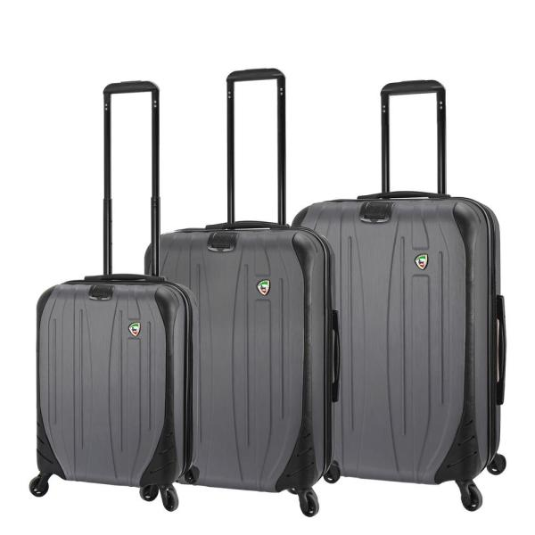 Mia Toro Compaz 3-Piece Titanium Hardside Spinner Luggage Set M1524-3PC-TITNN
