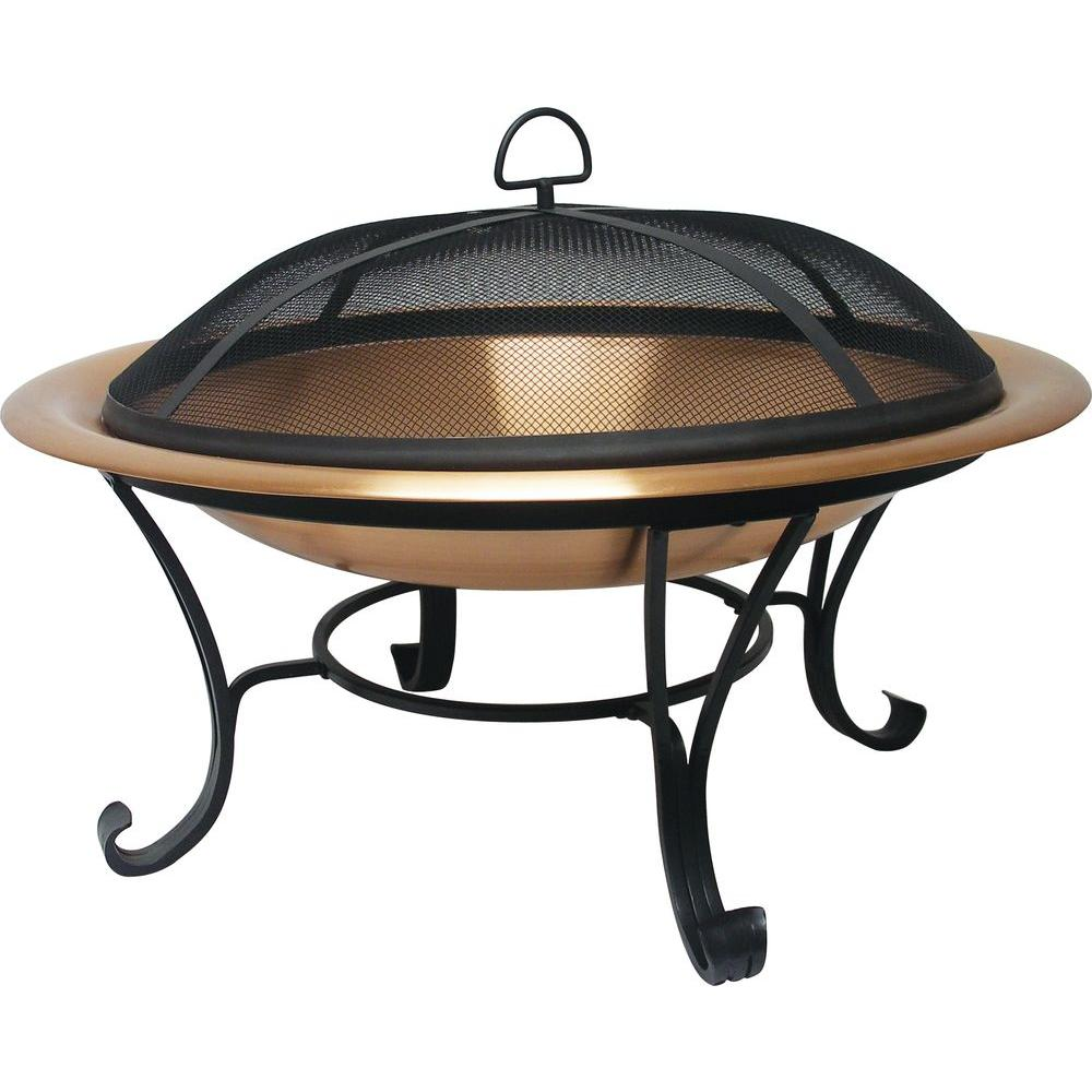 Catalina Creations 30 in. Copper Fire Pit Set