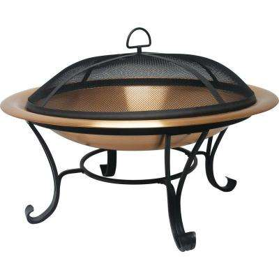 30 in. Copper Fire Pit Set