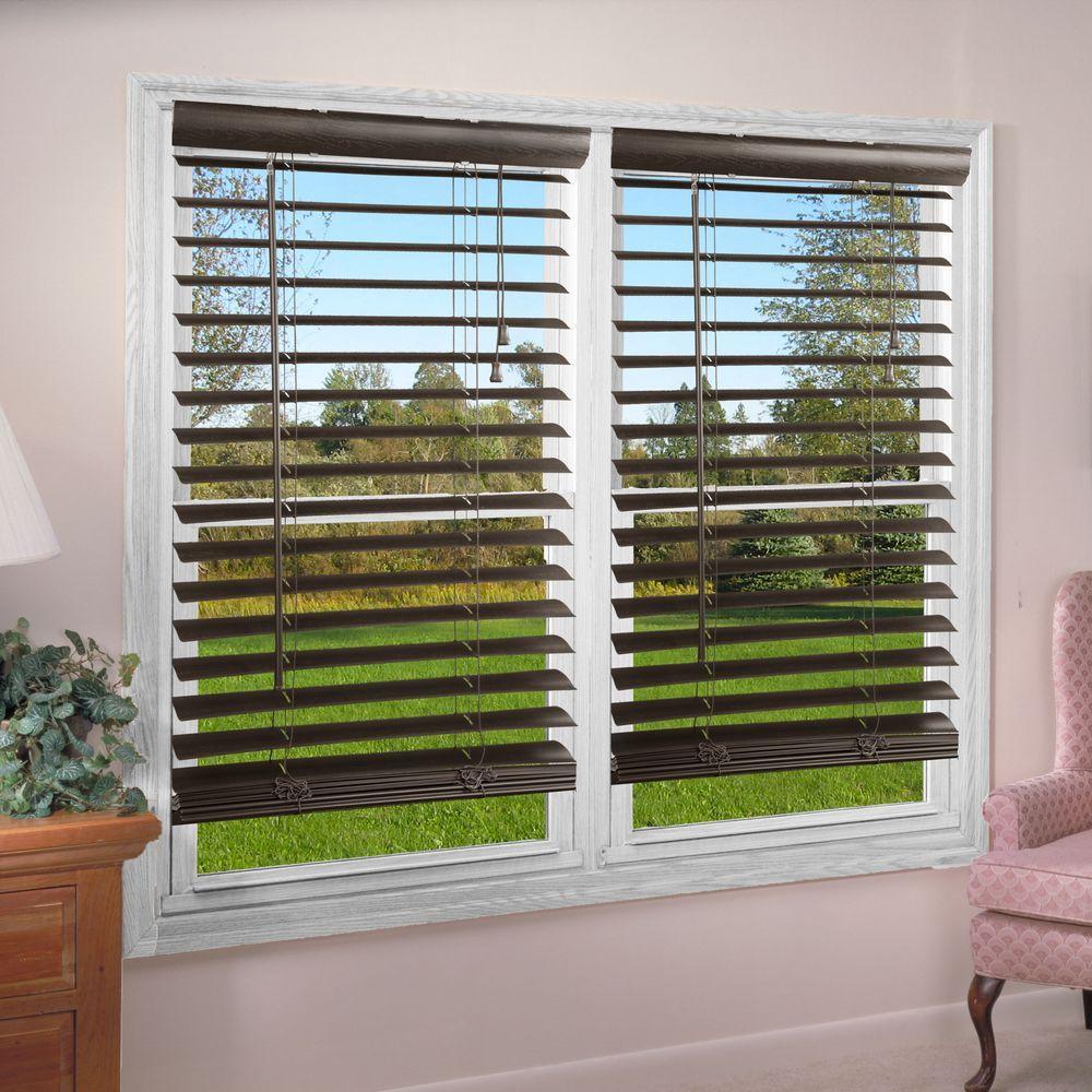Perfect Lift Window Treatment Mocha (Brown) 2 in. Premium Vinyl Blind - 70 in. W x 64 in. L