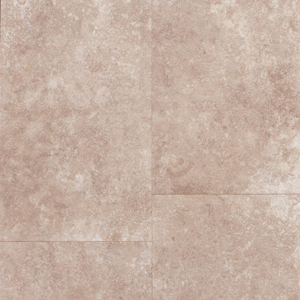 Take Home Sample - Travertine Tile-Grey Laminate Flooring - 5 in.