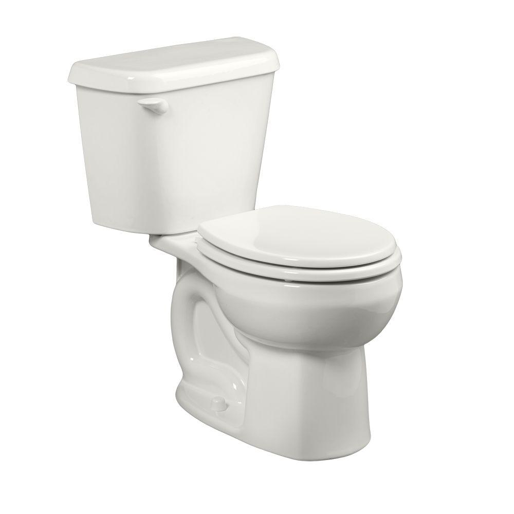 Colony 2-Piece 1.6 GPF Single Flush Round Toilet in White