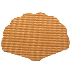 Kraftware Fishnet Shell Placemat in Toffee (Set of 12) by Kraftware