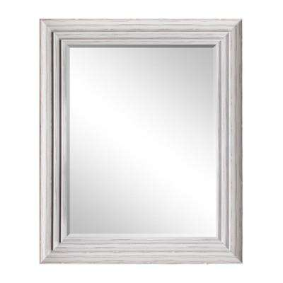 29.5 in. x 35.5 in White Blanc Decorative Mirror