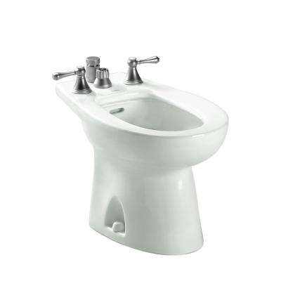 Piedmont Elongated Bidet for Vertical Spray in Colonial White