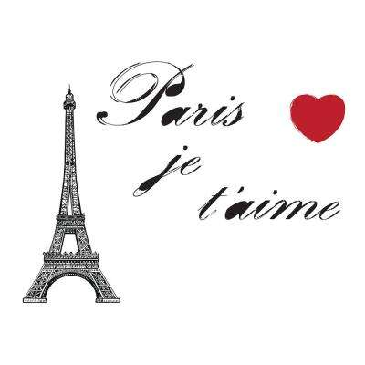 18.5 in. x 26.4 in. Paris Wall Decal